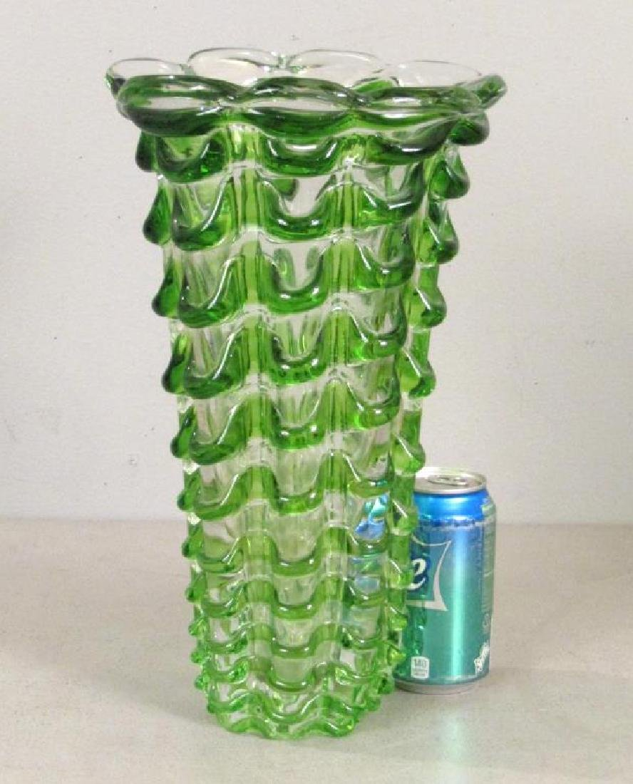 Heavy Murano Glass Vase (as is) - 2