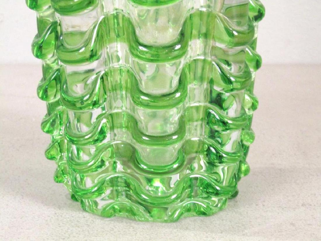 Heavy Murano Glass Vase (as is) - 5