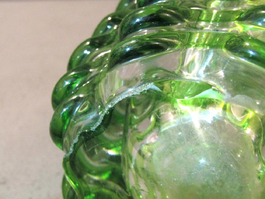 Heavy Murano Glass Vase (as is) - 7