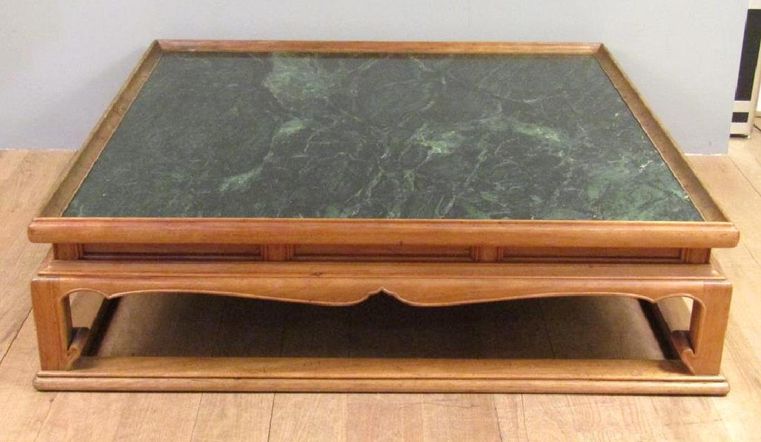 Chinese Style Marble Top Coffee Table