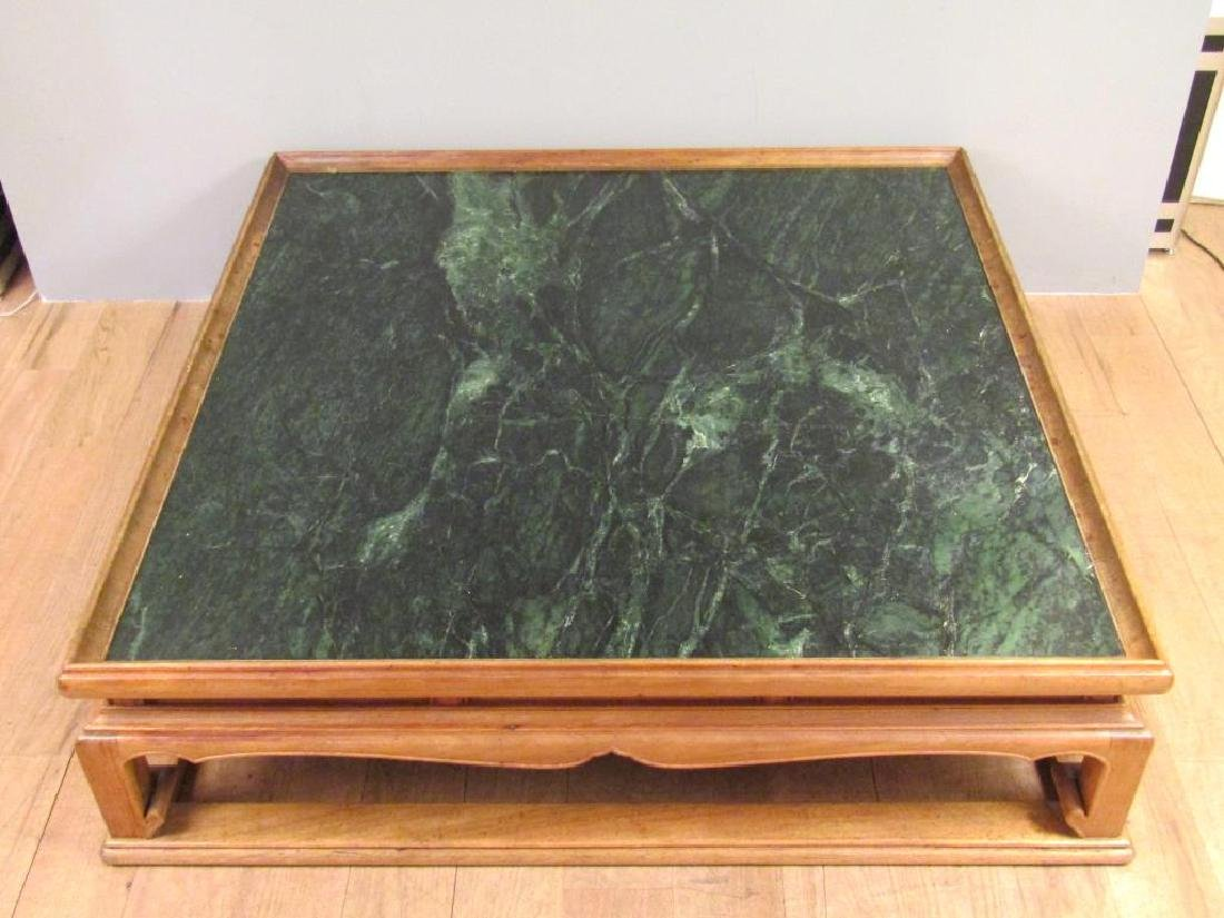 Chinese Style Marble Top Coffee Table - 2