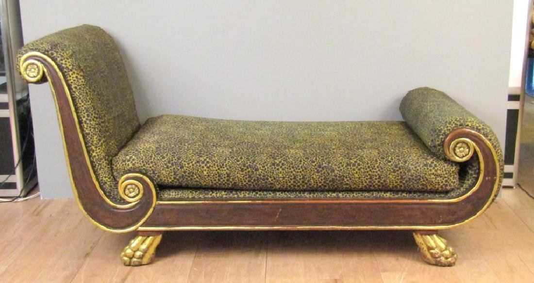 Russian Empire Style Chaise Lounge