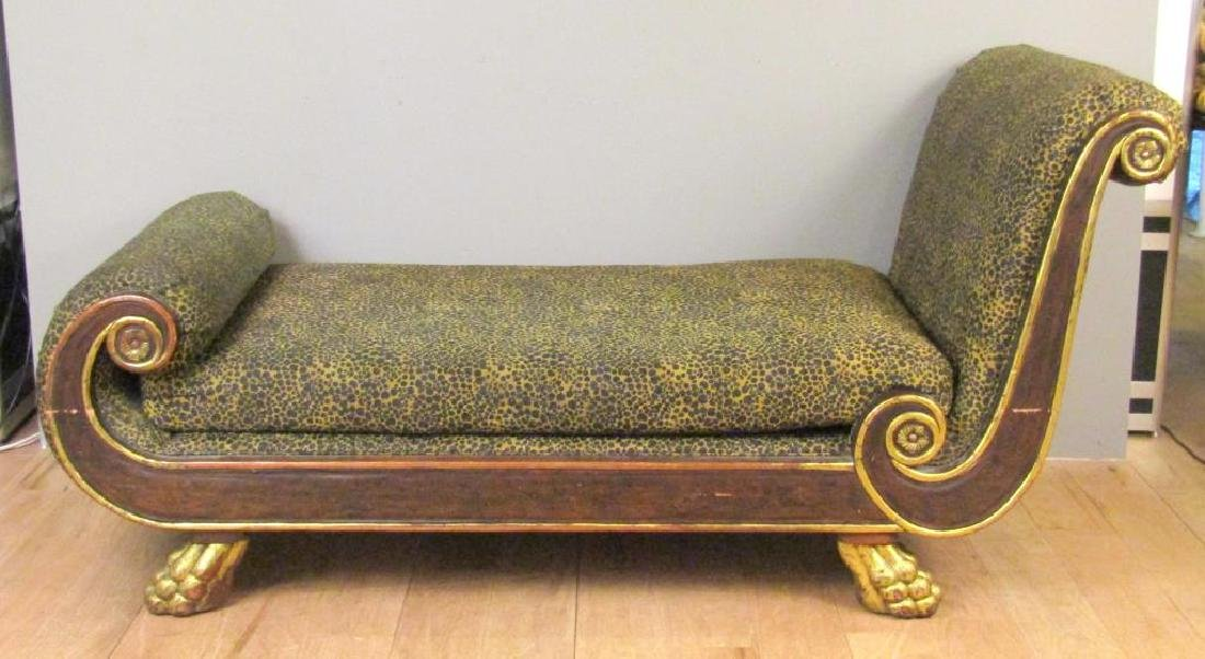 Russian Empire Style Chaise Lounge - 2