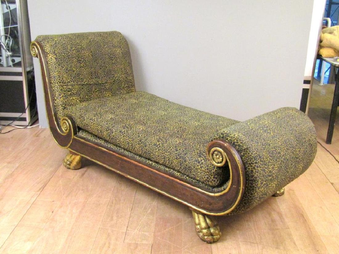 Russian Empire Style Chaise Lounge - 6