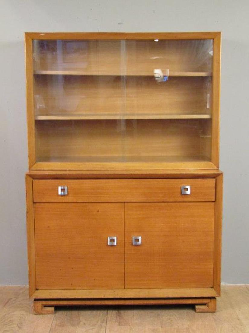 Mid Century Plymouth 2 Part Cabinet