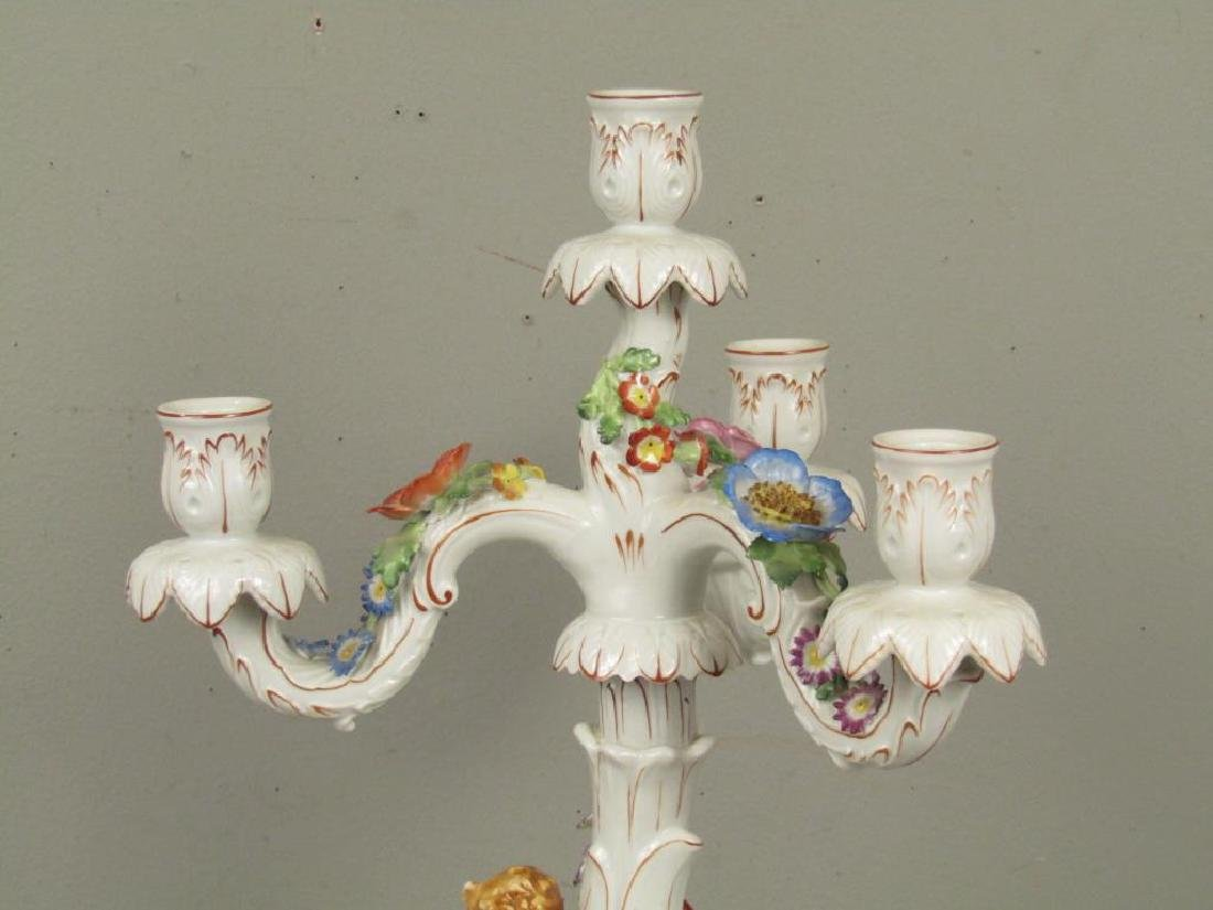 Pair Schierholz Porcelain Candelabra (as is) - 3