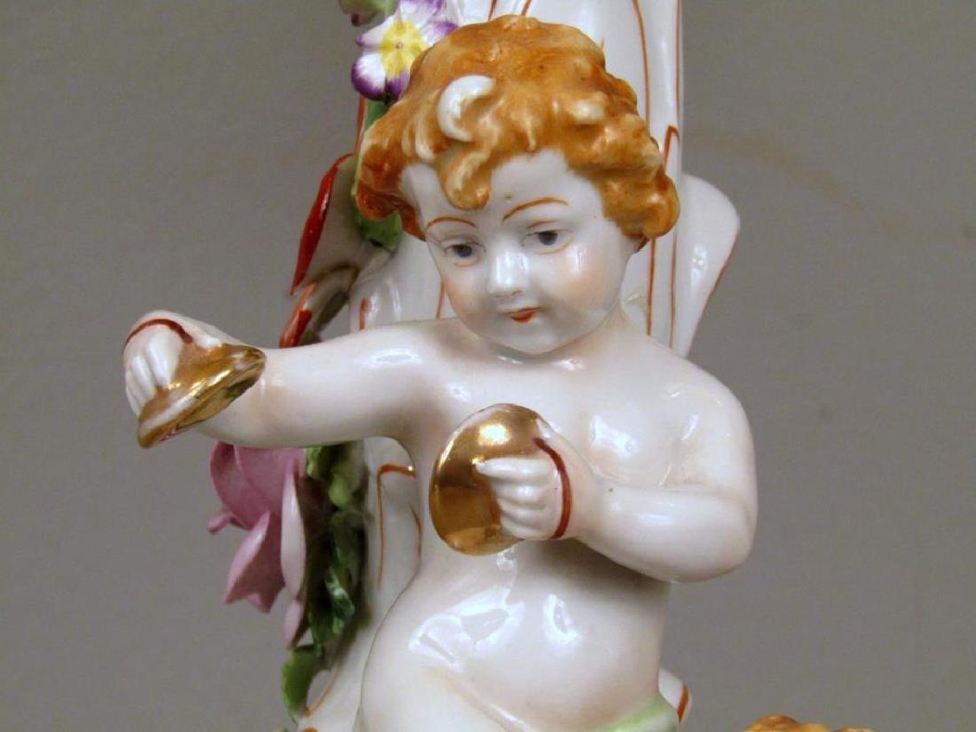 Pair Schierholz Porcelain Candelabra (as is) - 4