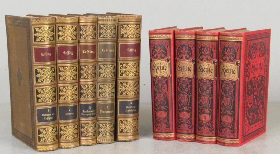 2 Sets of Leather Bound Books