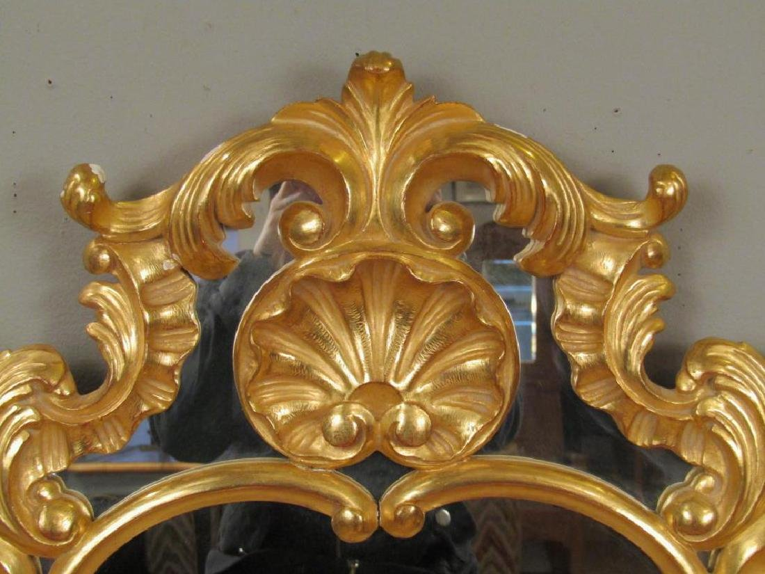 Georgian Style Gilt Carved Mirror - 2