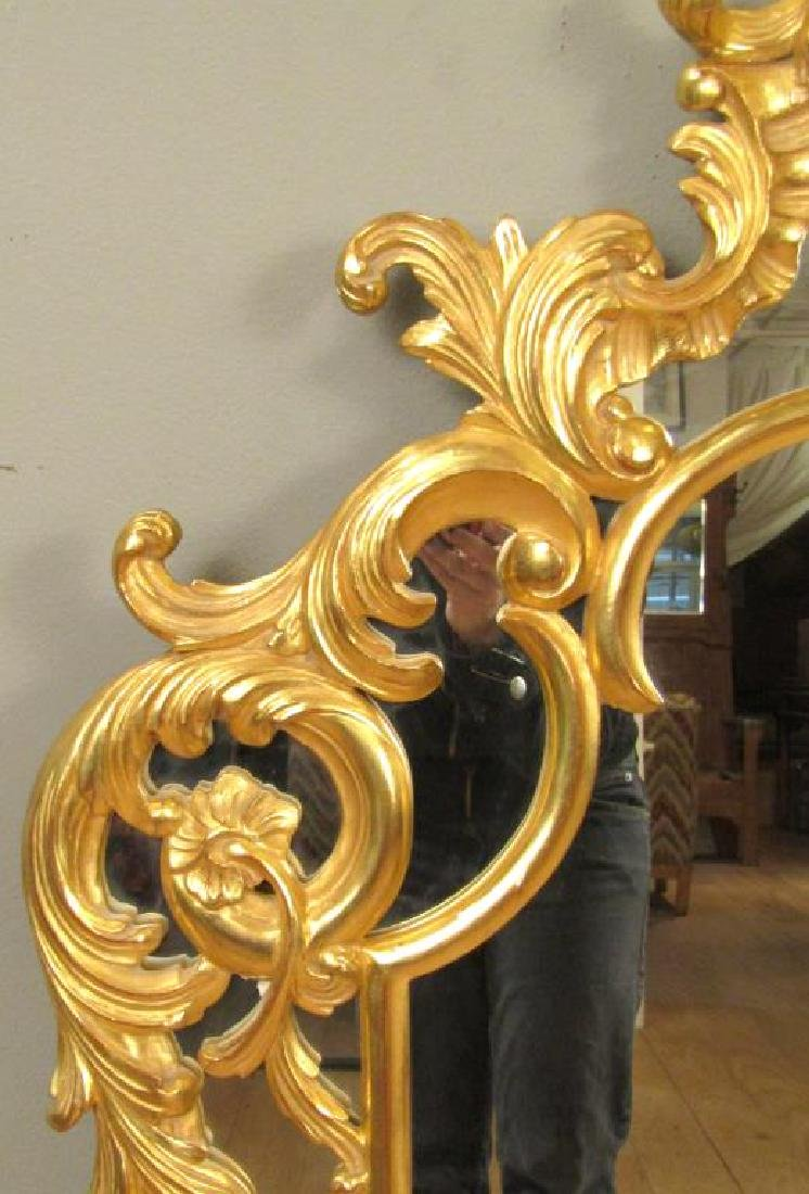 Georgian Style Gilt Carved Mirror - 3