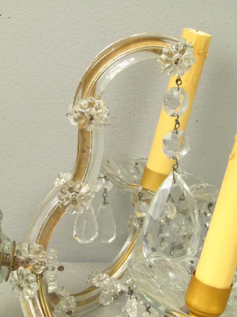 Pair Maria Theresa Style Crystal Sconces - 2