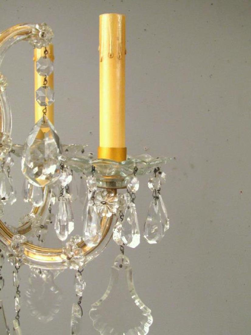 Pair Maria Theresa Style Crystal Sconces - 3