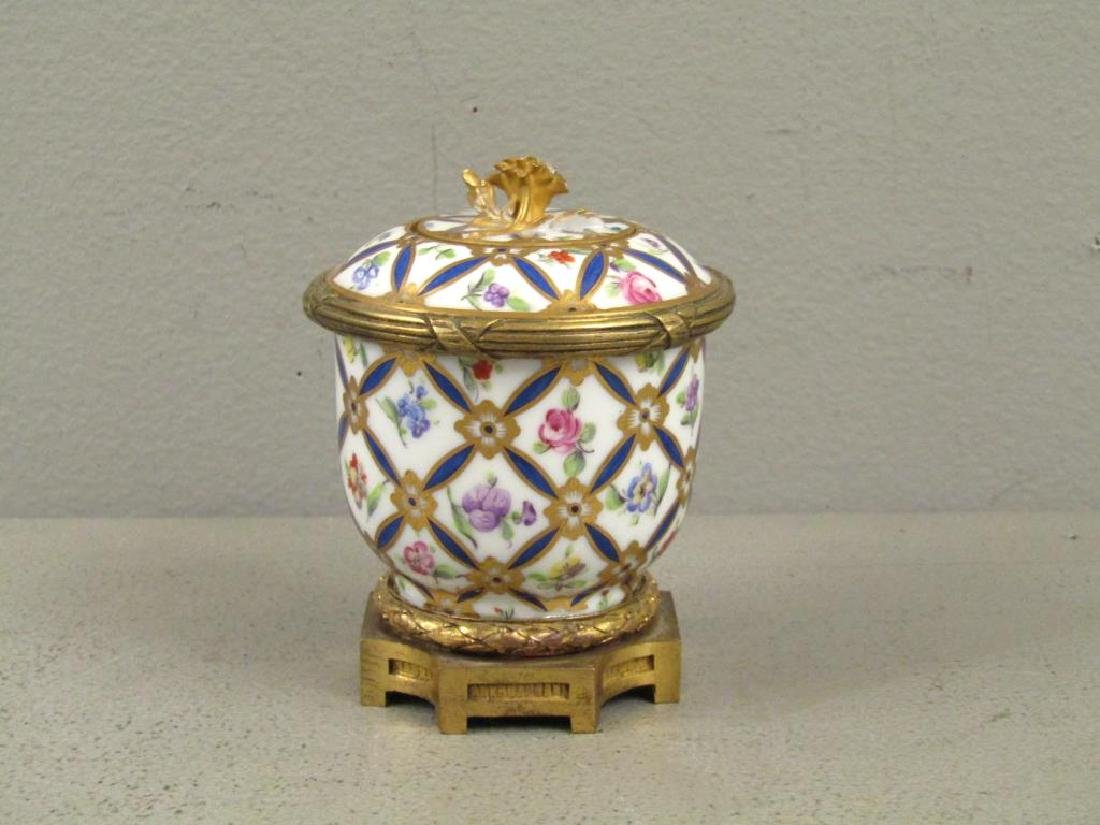 Sevres Bronze Mounted Ink Stand