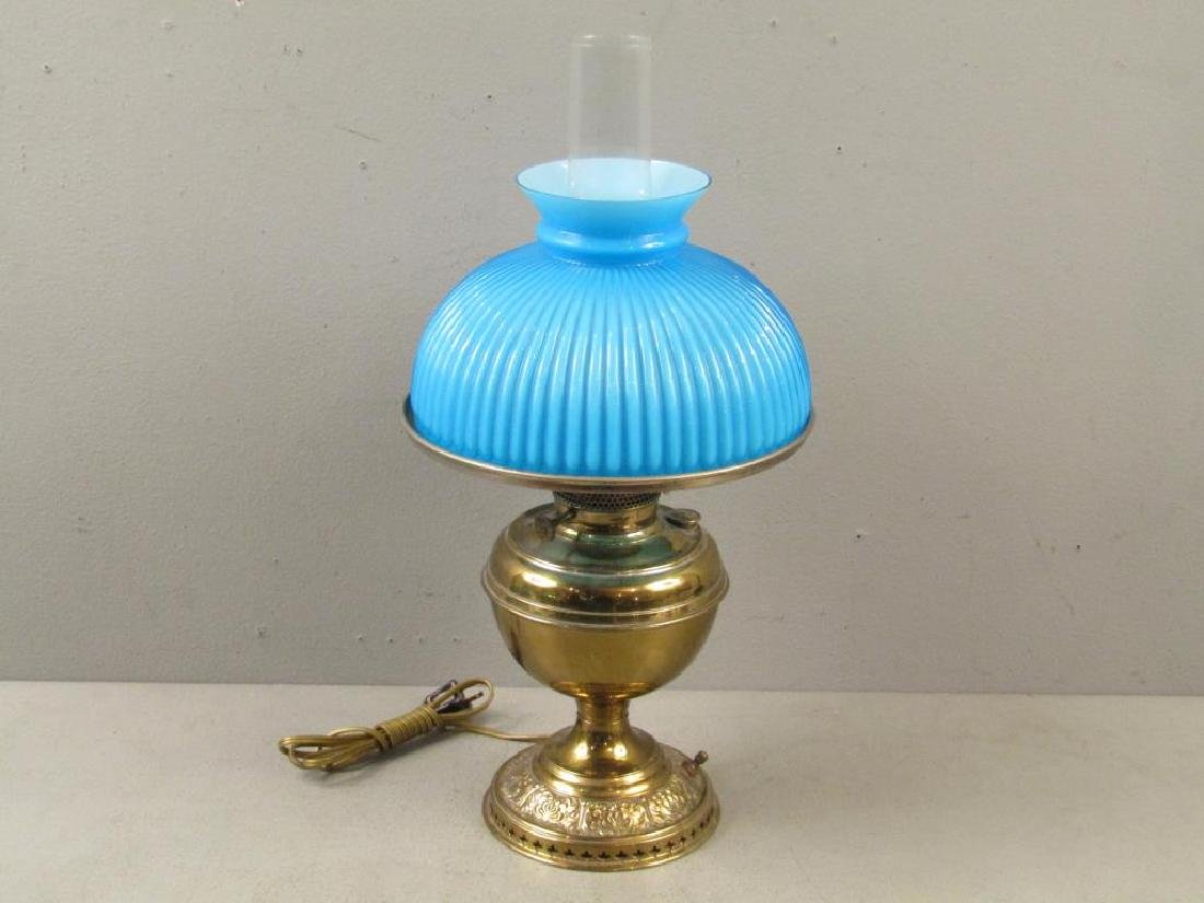 Bradley and Hubbard Converted Electrified Oil Lamp