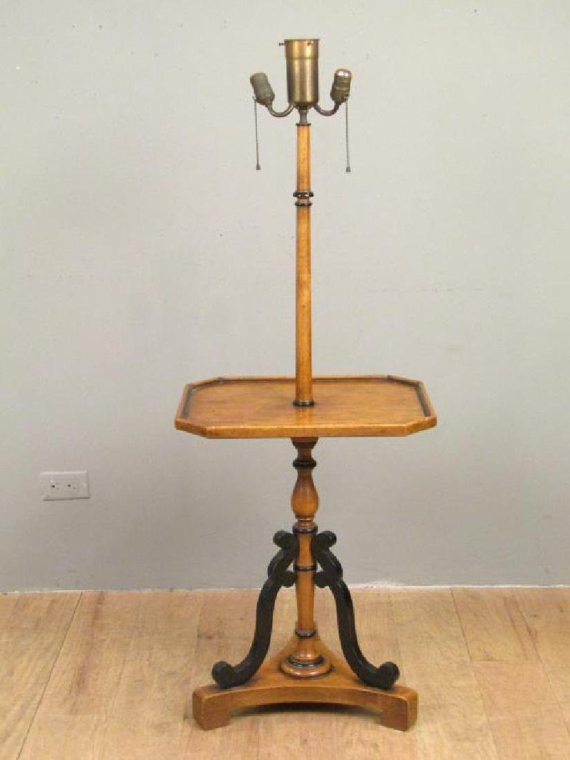 Neoclassical Stick Lamp Table