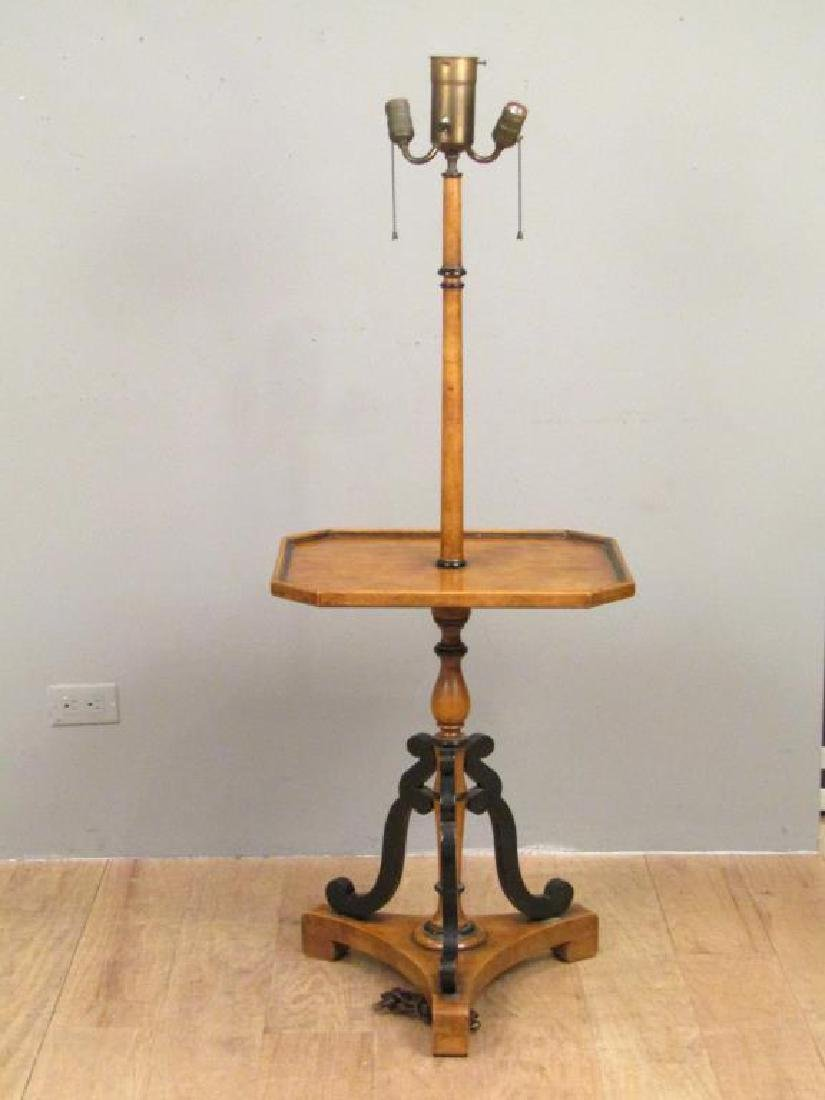Neoclassical Stick Lamp Table - 2