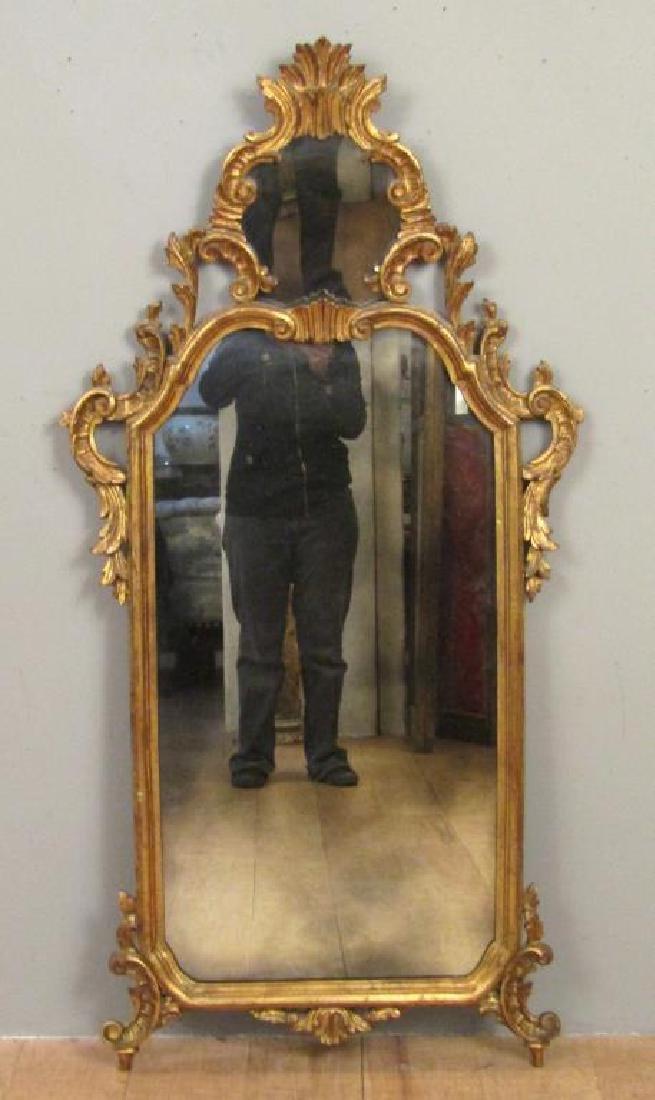 Georgian Style Gilt Carved Mirror