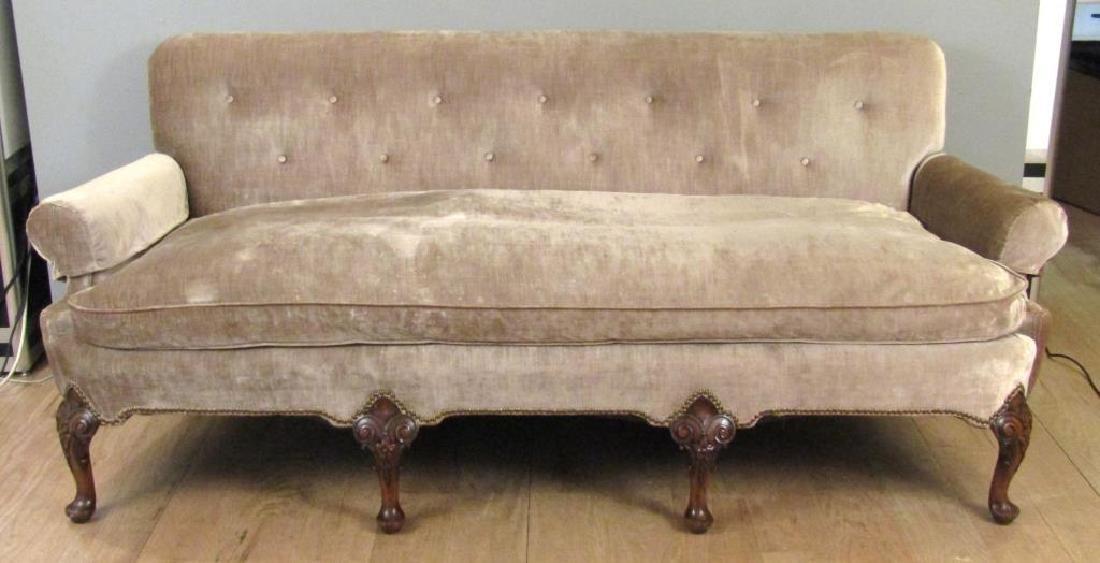 George II Style Carved Leg Sofa