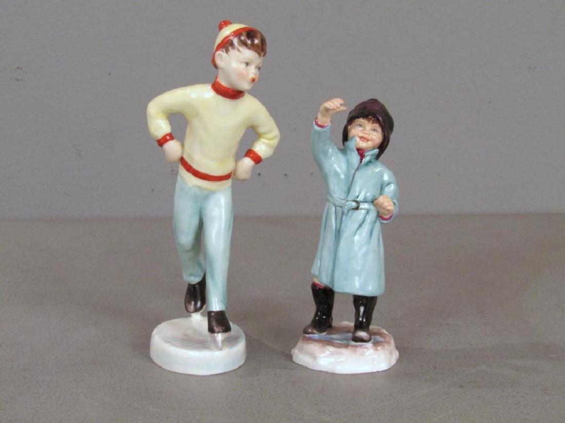 2 Royal Worcester Porcelain Figures