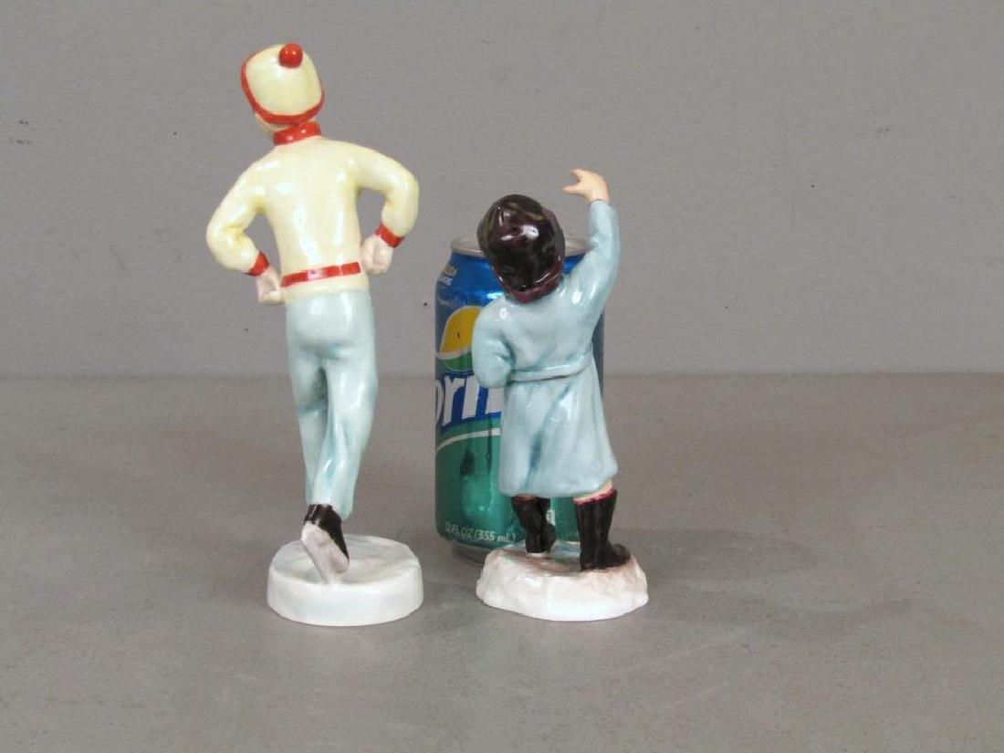 2 Royal Worcester Porcelain Figures - 2