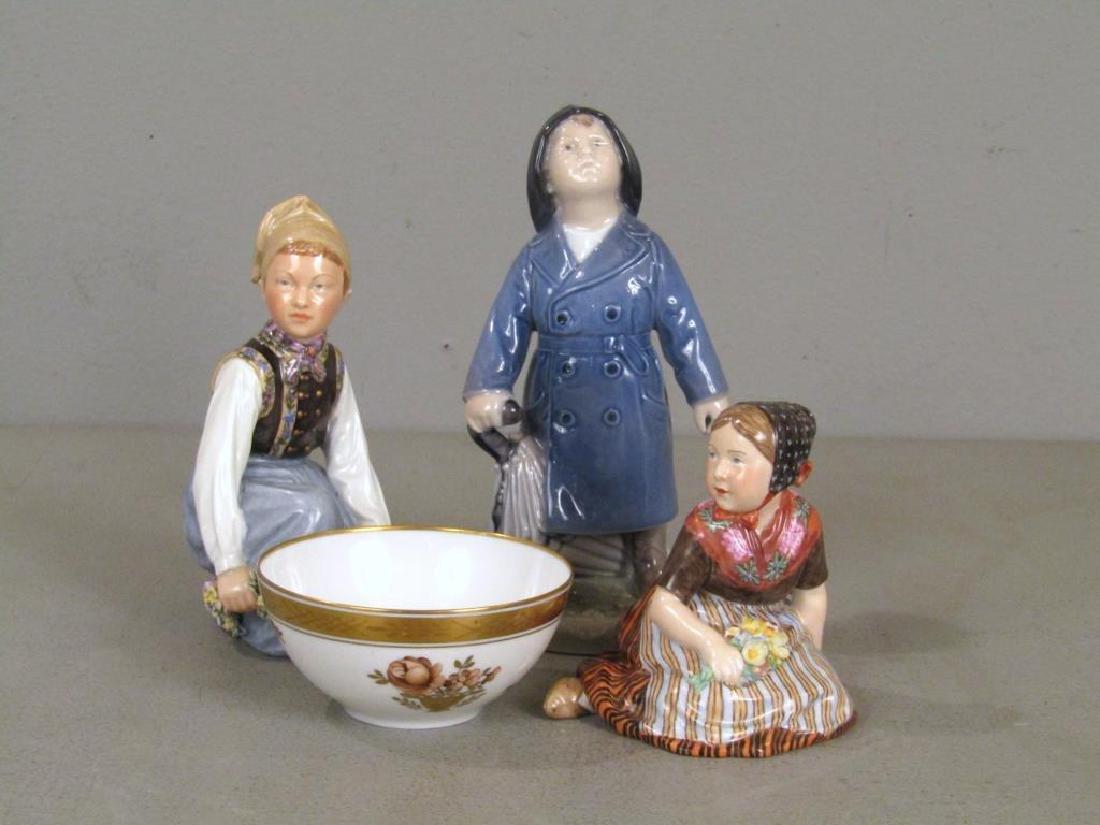 4 Royal Copenhagen Porcelain Articles