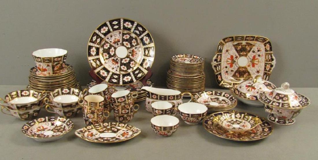70 + Pieces Royal Crown Derby Imari Dinnerware