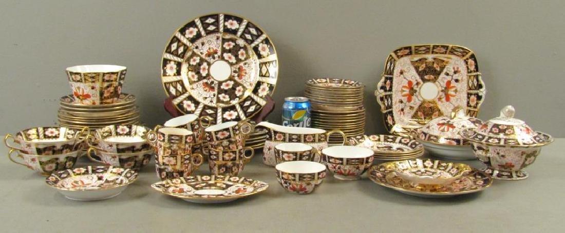 70 + Pieces Royal Crown Derby Imari Dinnerware - 2