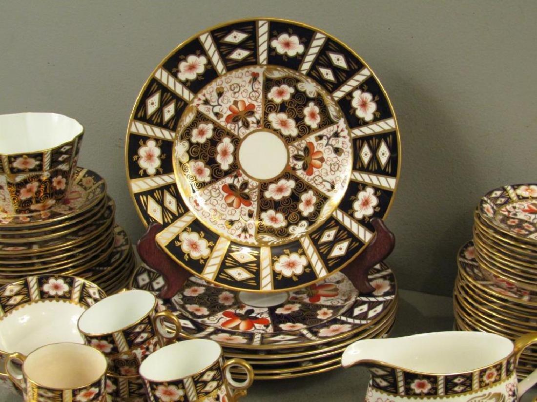 70 + Pieces Royal Crown Derby Imari Dinnerware - 4
