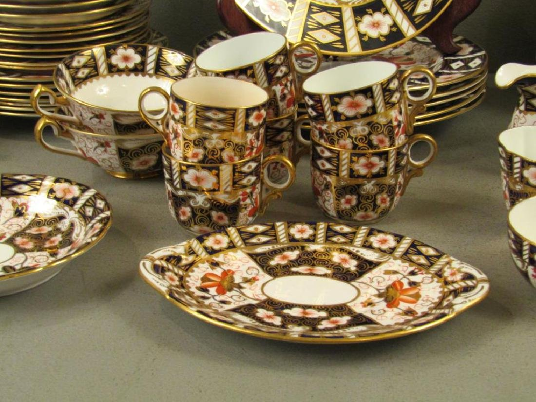 70 + Pieces Royal Crown Derby Imari Dinnerware - 5