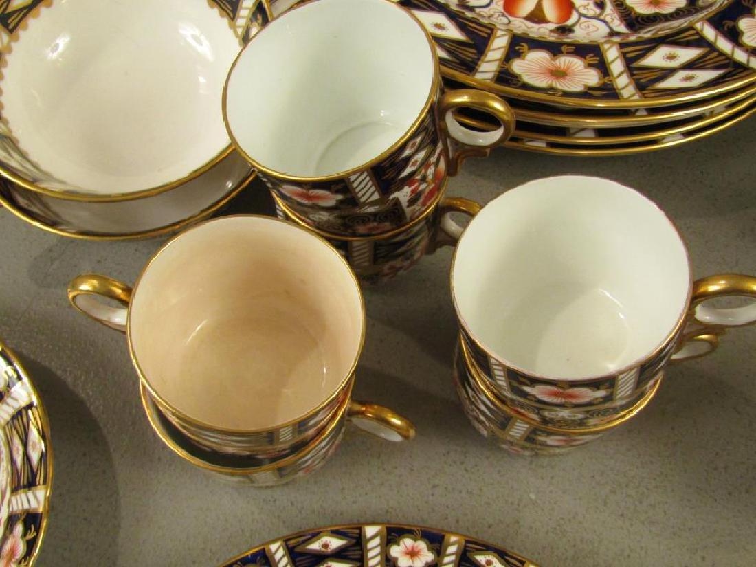 70 + Pieces Royal Crown Derby Imari Dinnerware - 6