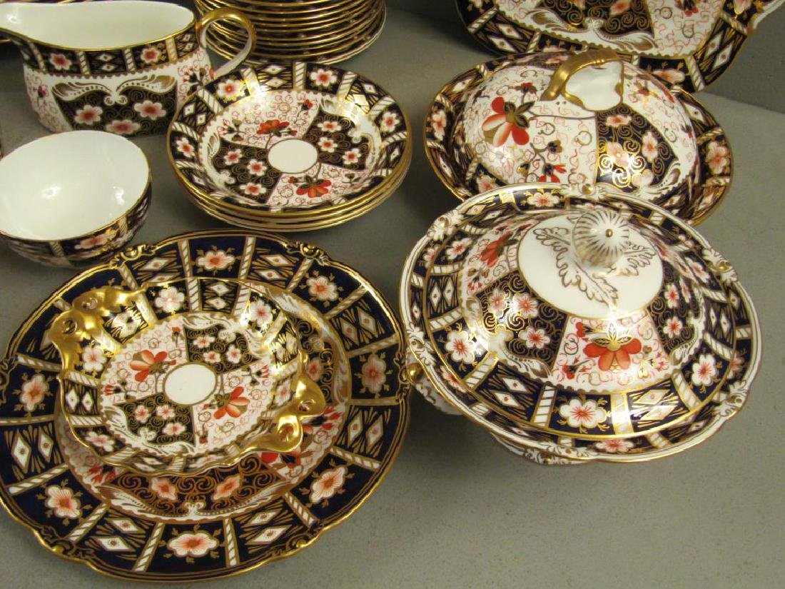 70 + Pieces Royal Crown Derby Imari Dinnerware - 9