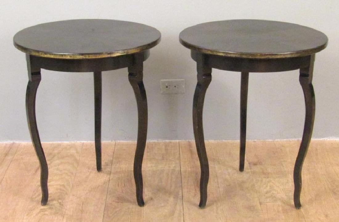 Pair Modernist Round Lamp Tables