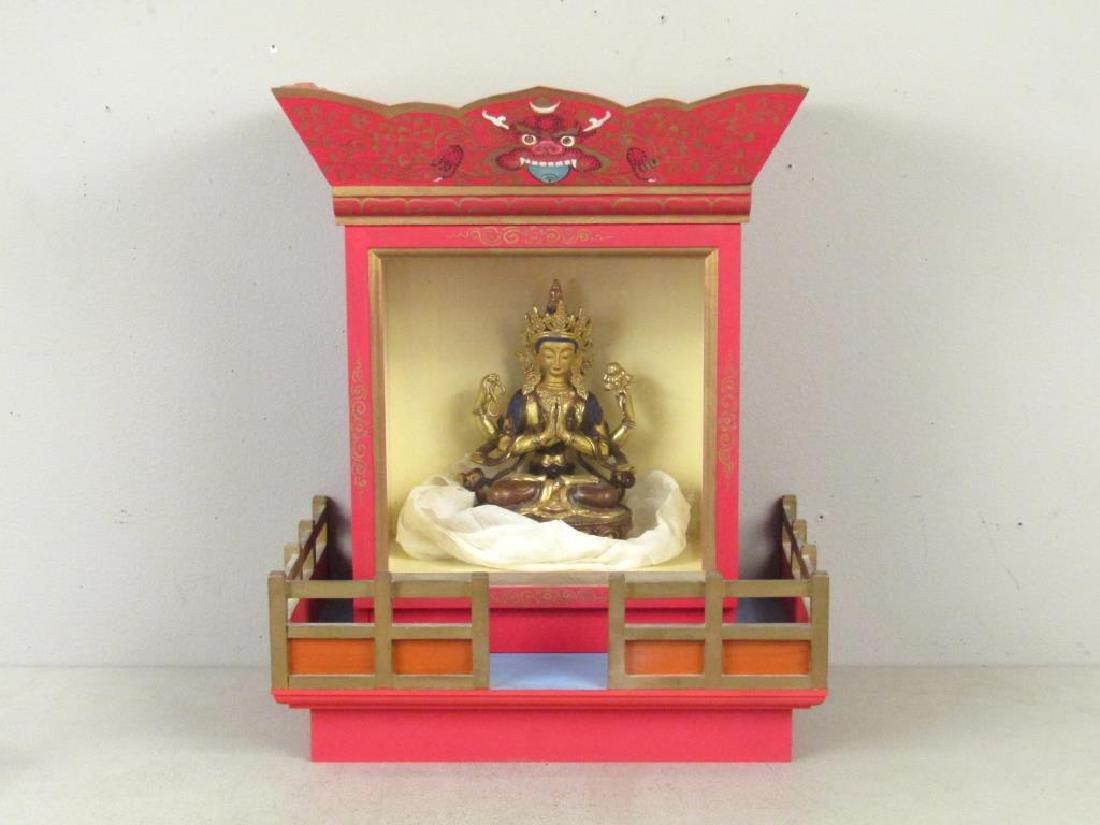 Bronze Buddha in Shrine