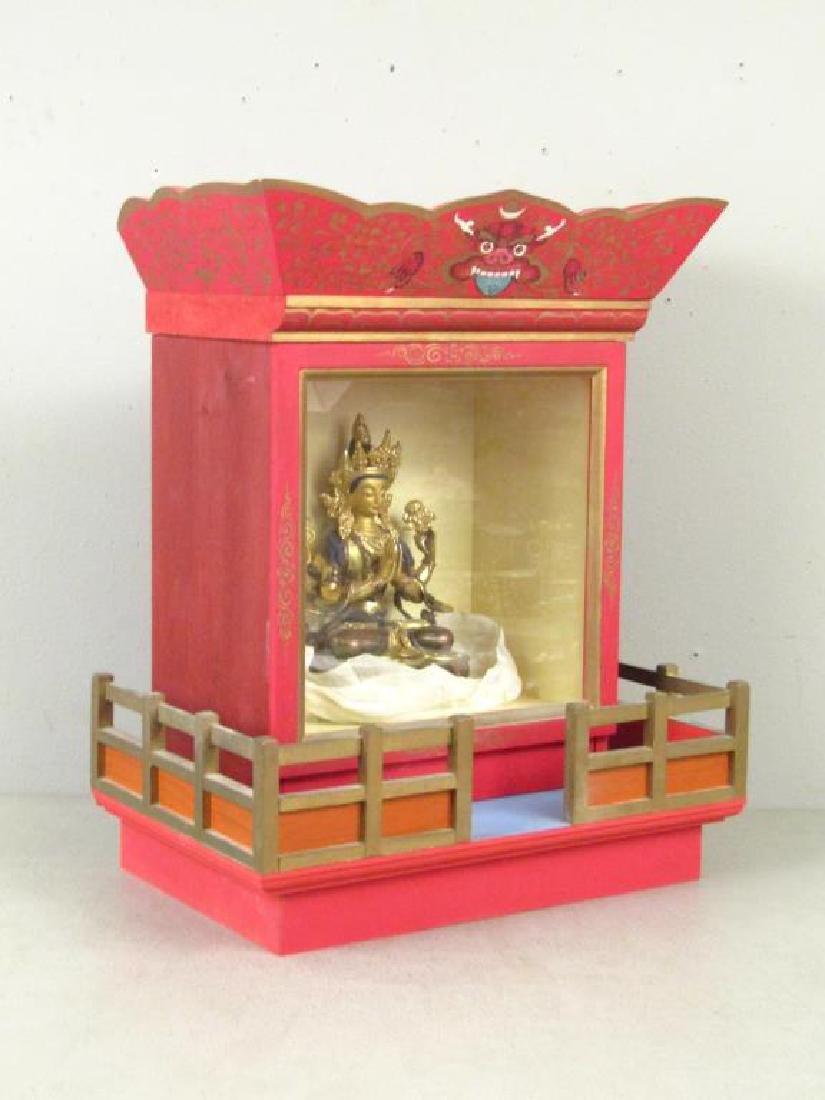 Bronze Buddha in Shrine - 2