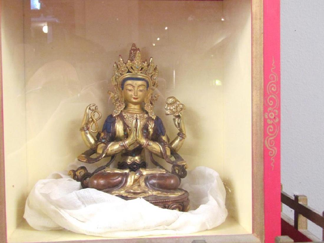 Bronze Buddha in Shrine - 3