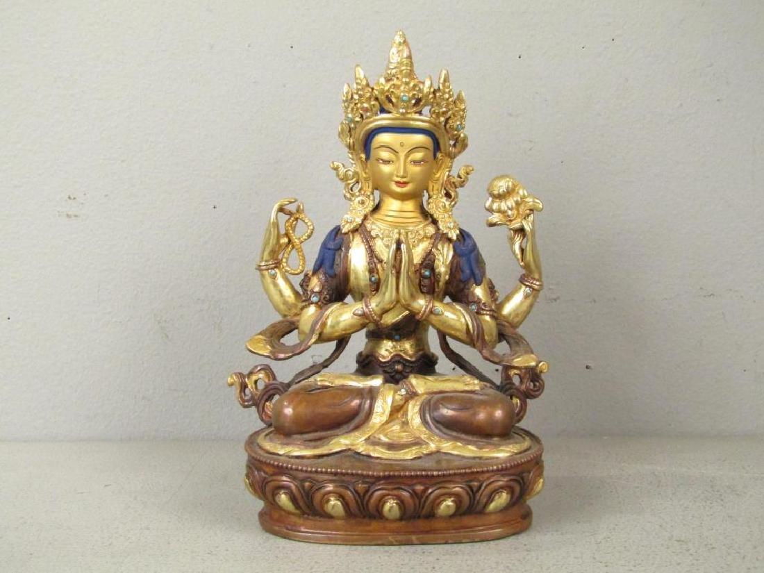 Bronze Buddha in Shrine - 4