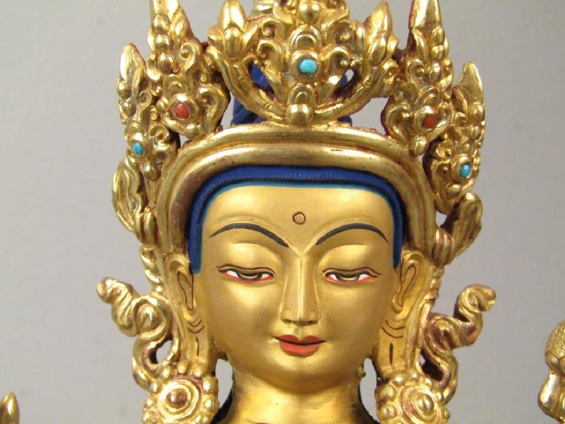 Bronze Buddha in Shrine - 7