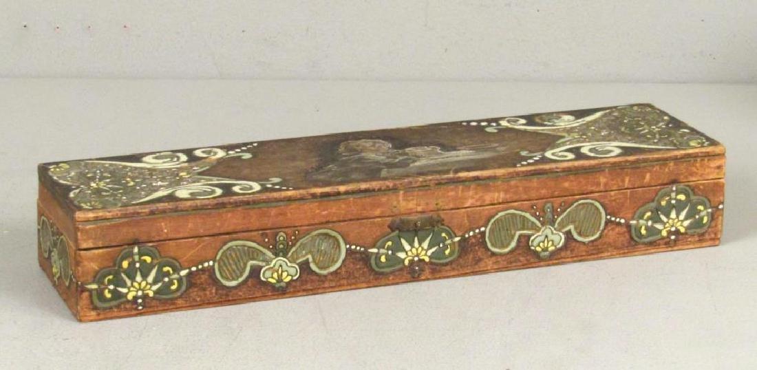 Antique Painted / Enameled Wood Box