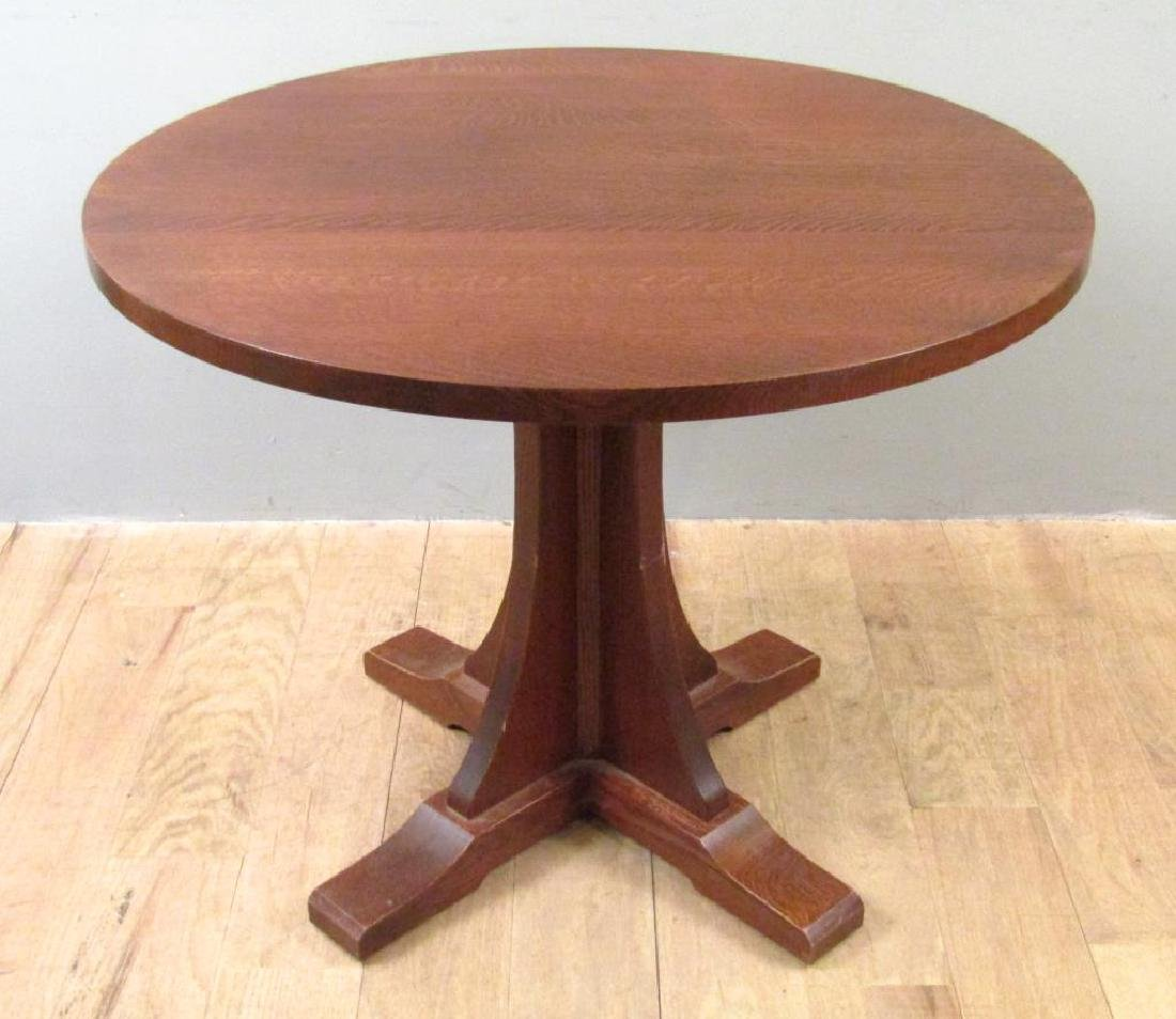 E. J. Audi Stickley Round Center / Dining Table