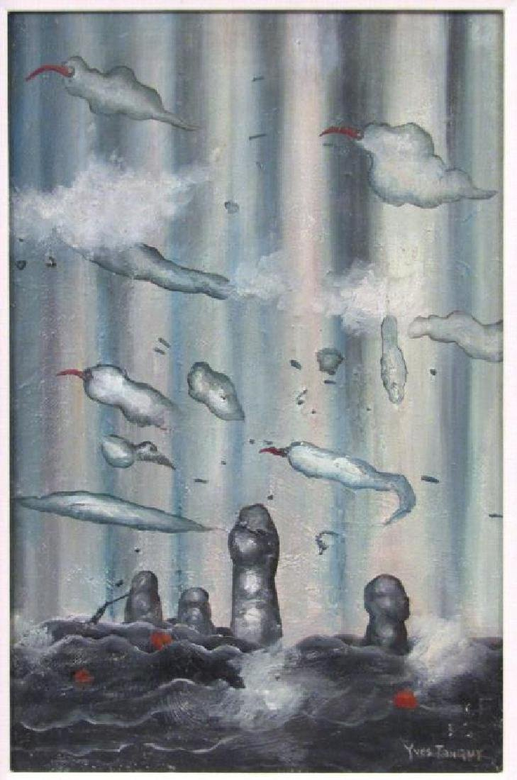 Signed Yves Tanguy - Oil on Canvas