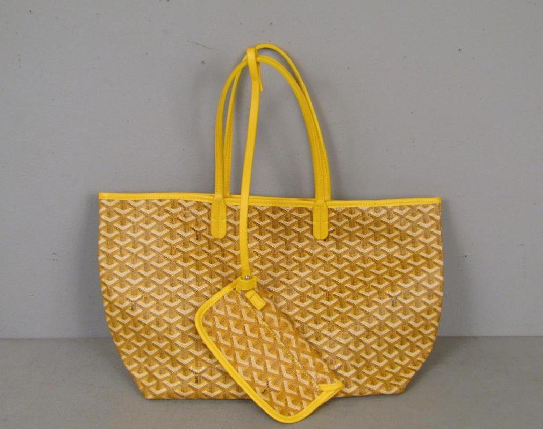 Goyard St. Louis Yellow Canvas Tote Bag