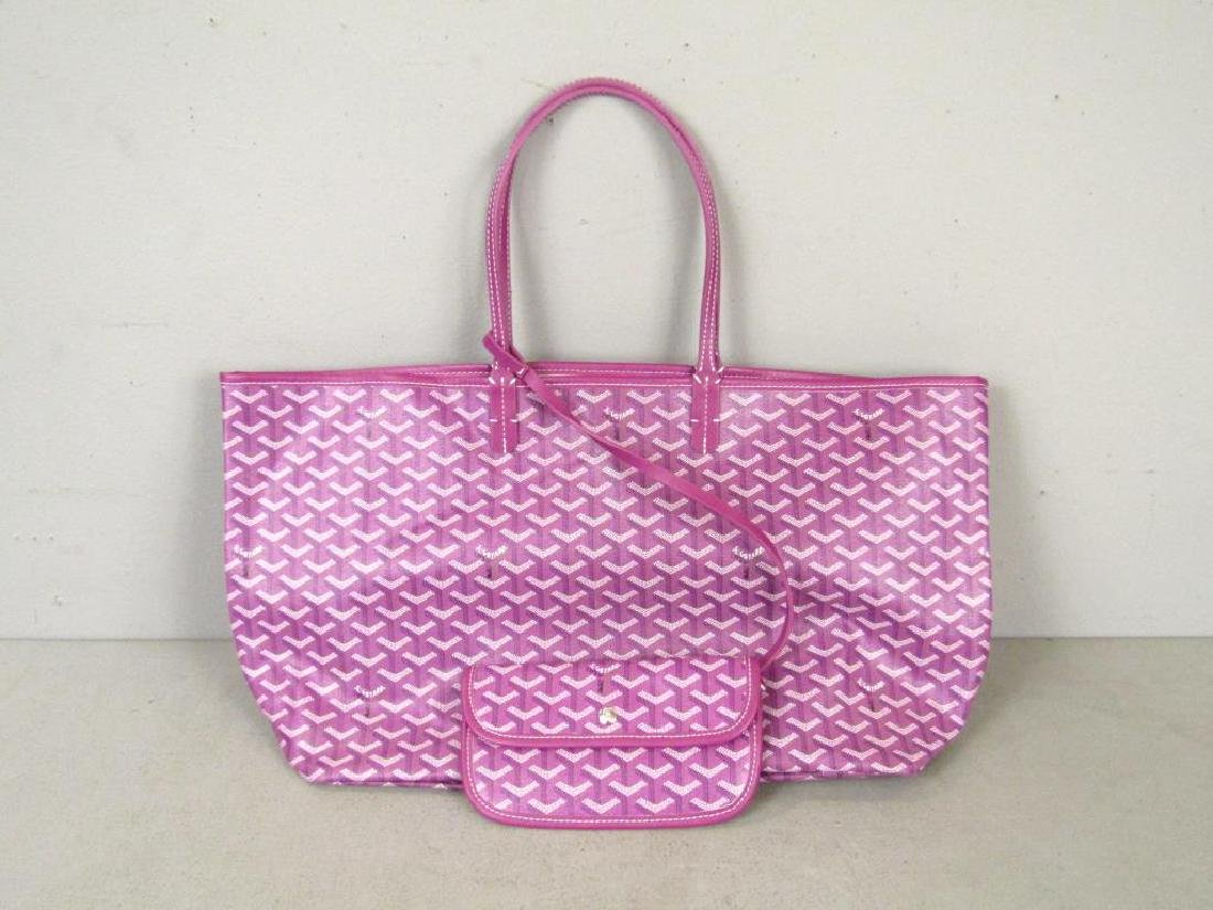 Goyard St. Louis Purple Canvas Tote Bag