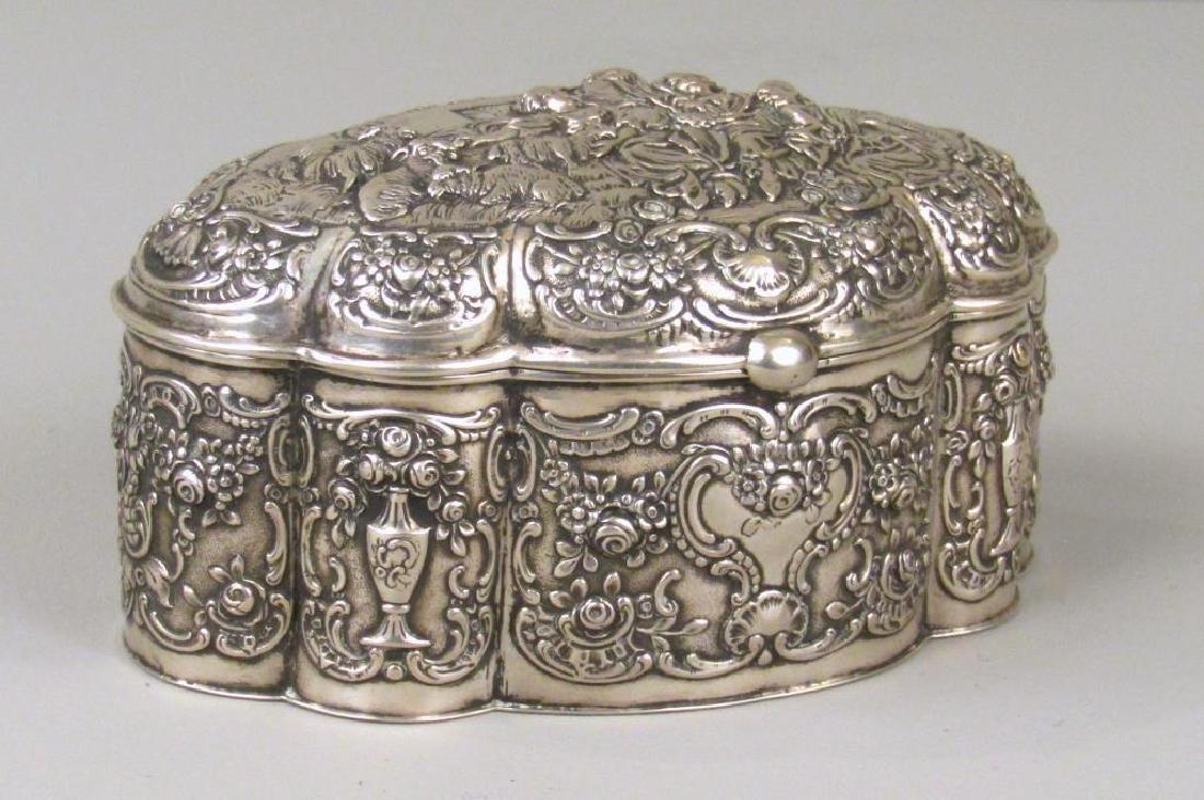 Russian Silver Serpentine Box