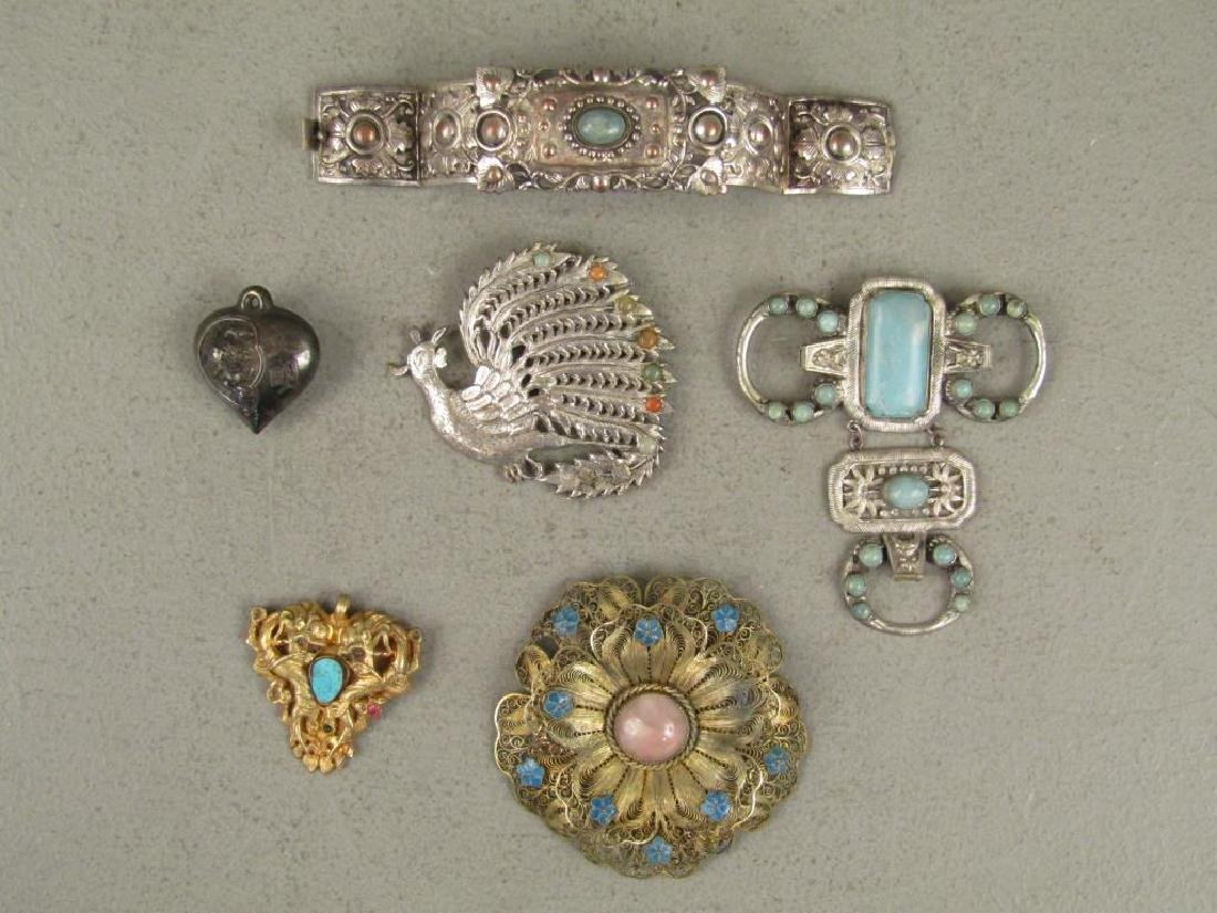 Assorted Chinese Metal Jewelry