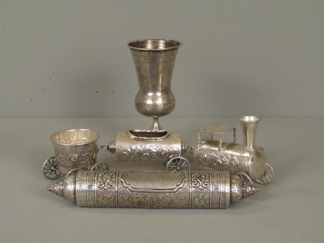 3 Silver Judaica Articles