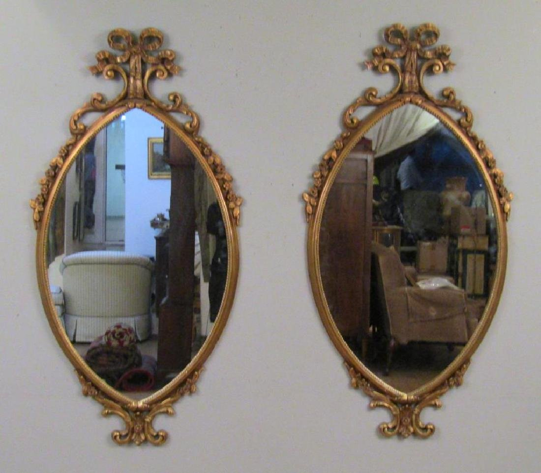 Pair Gilt Framed Mirrors