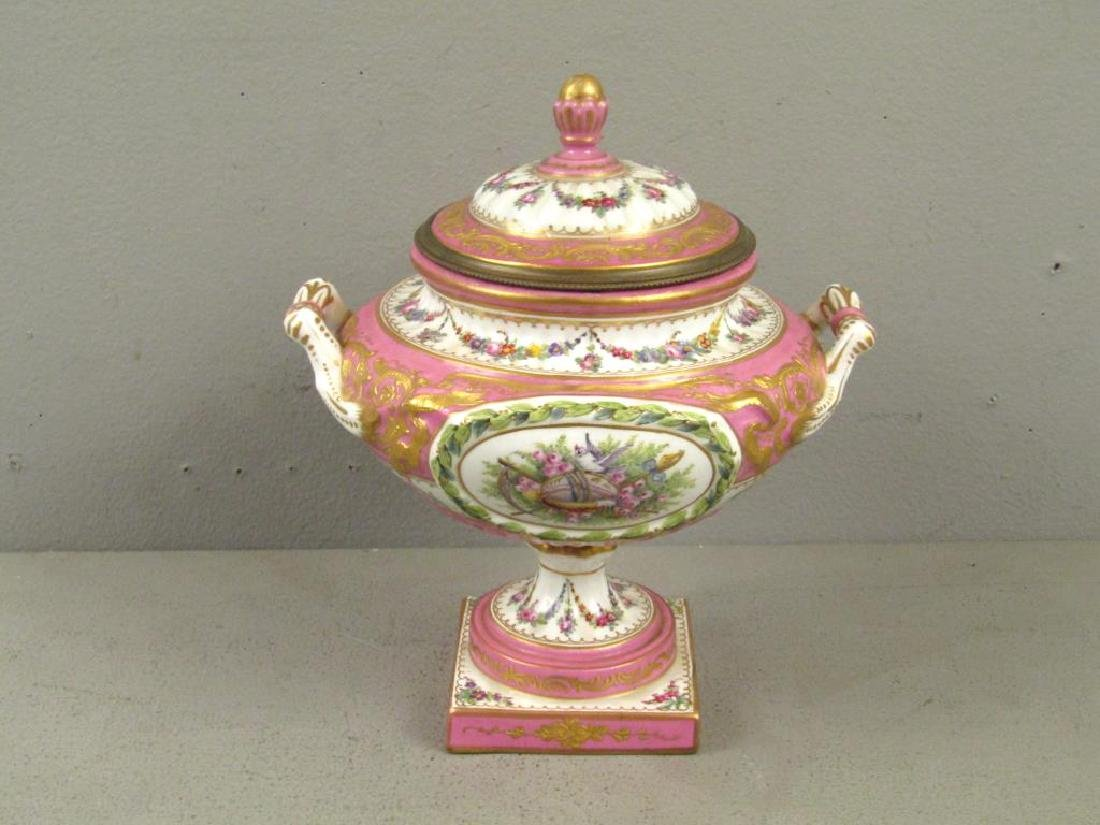 Sevres Porcelain Covered Coupe