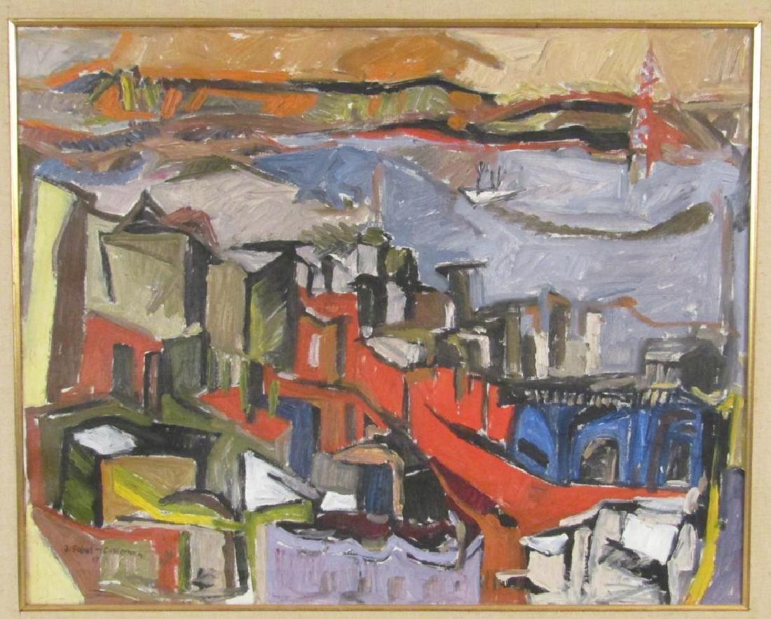 Judyta Sobel (Polish 1924 - 2012) - Oil on Canvas