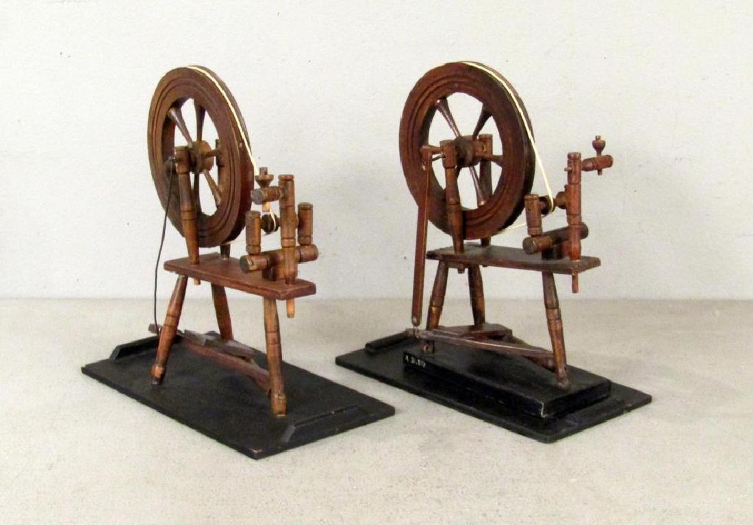 2 American Spinning Wheel Models