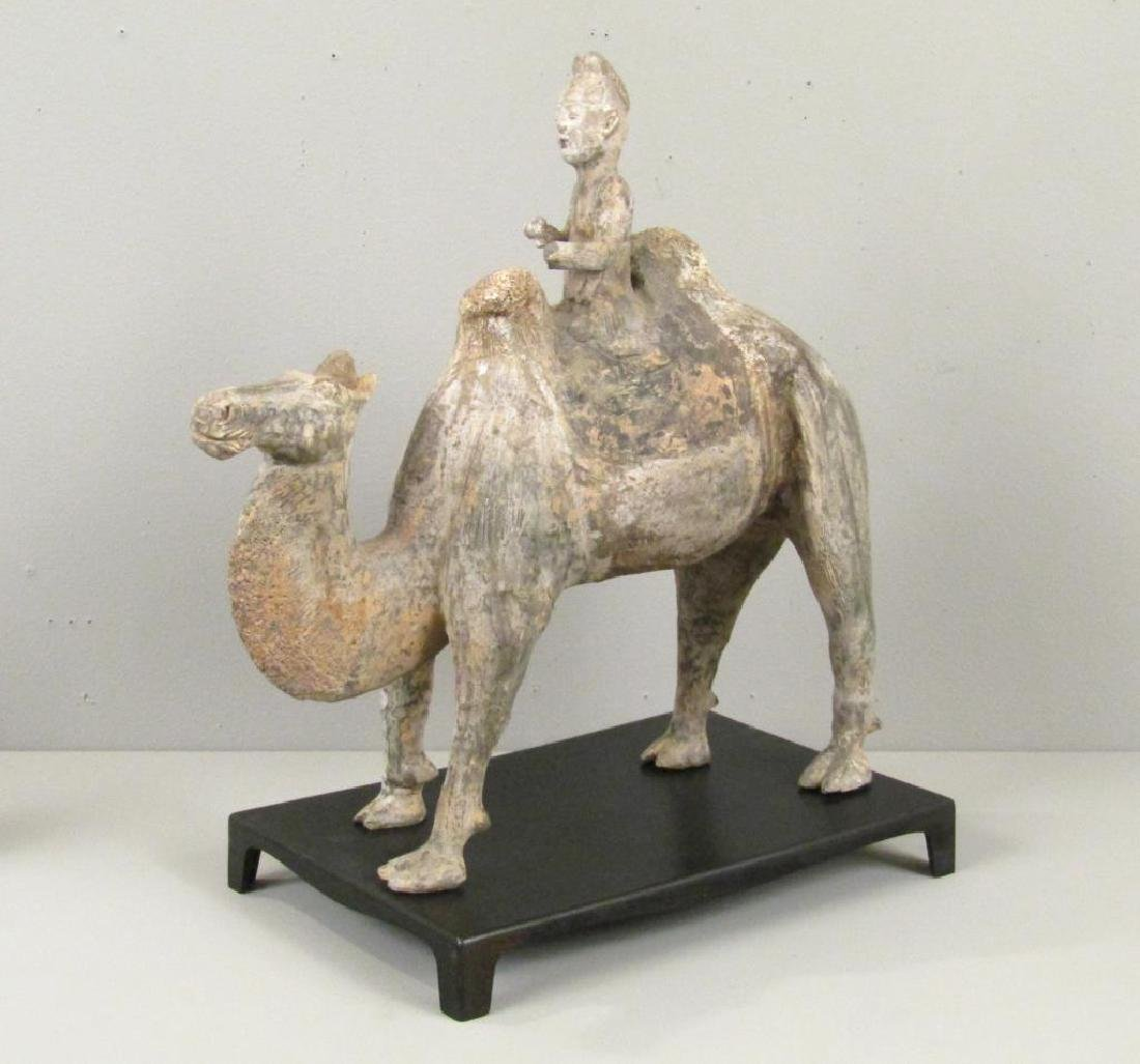 Chinese 8th Century Bactrian Camel and Rider
